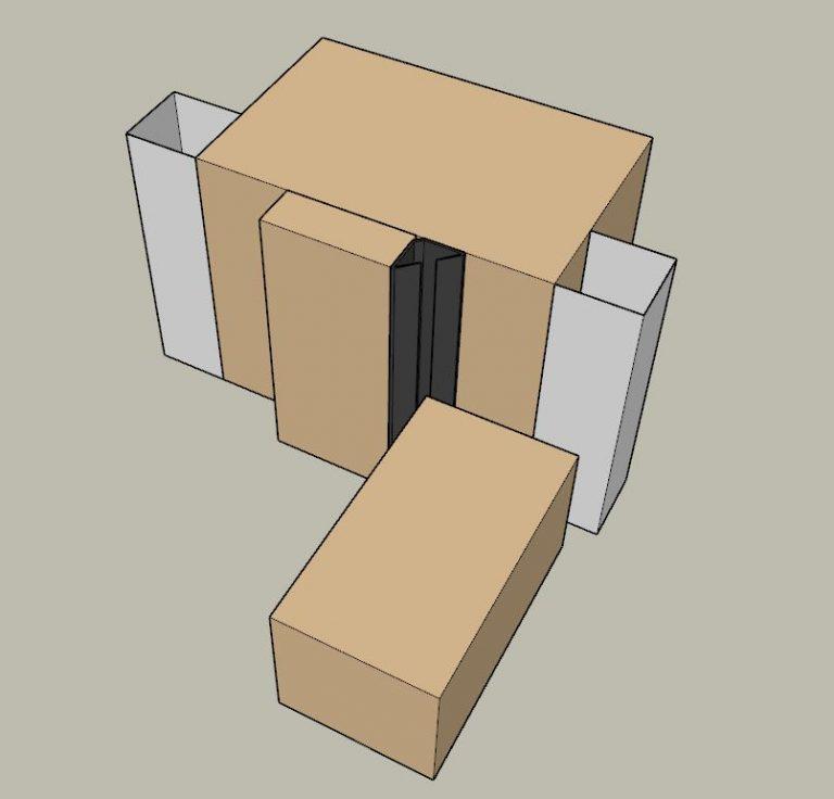 Self adhesive perimeter acoustic door seal BB-SSJ 1000 3