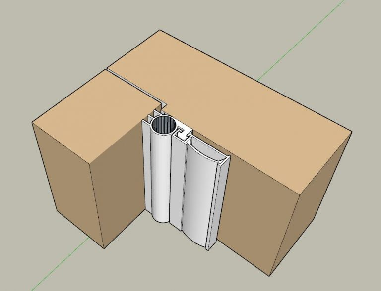 Slimline perimeter door seal BB-SDJ 1000 3